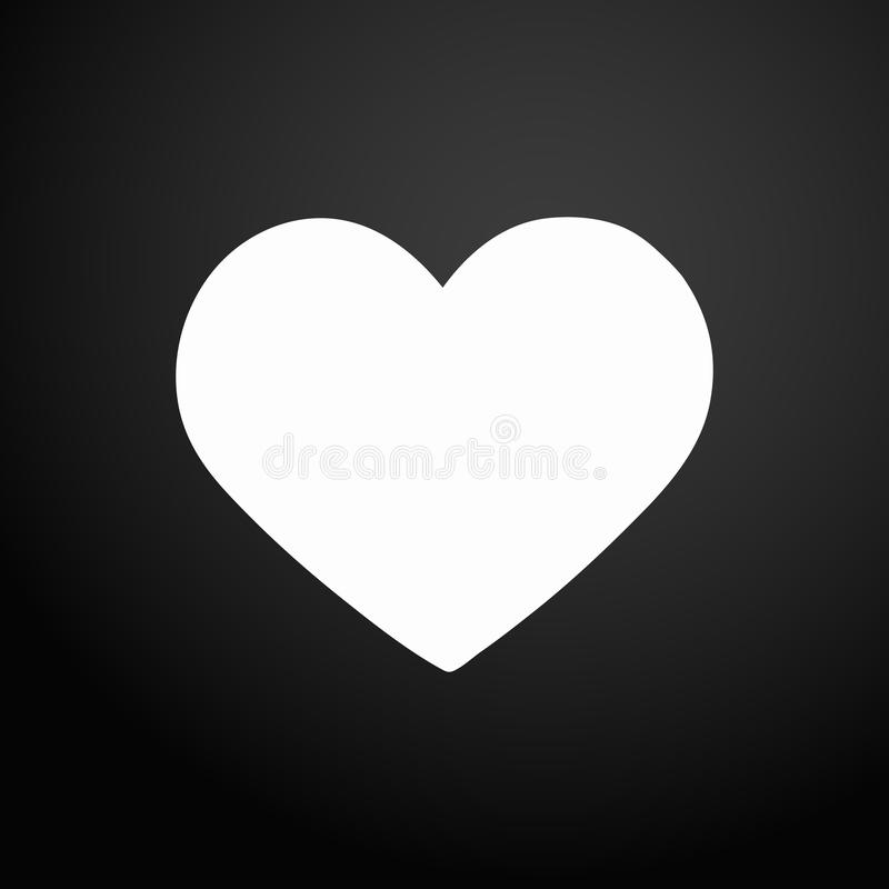 Love icon. Heart sign symbol. Black flat square button. Modern UI website navigation. Vector.  vector illustration