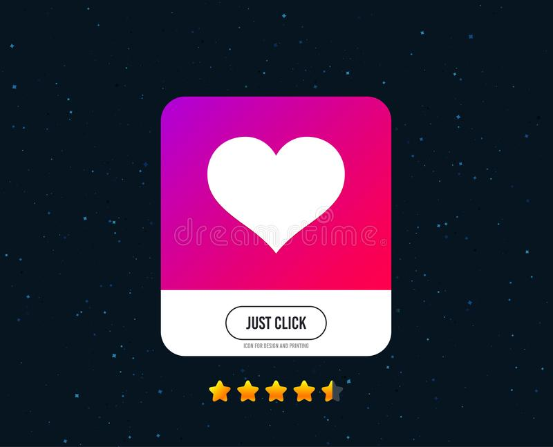 Love icon. Heart sign symbol. Vector. Love icon. Heart sign symbol. Web or internet icon design. Rating stars. Just click button. Vector vector illustration