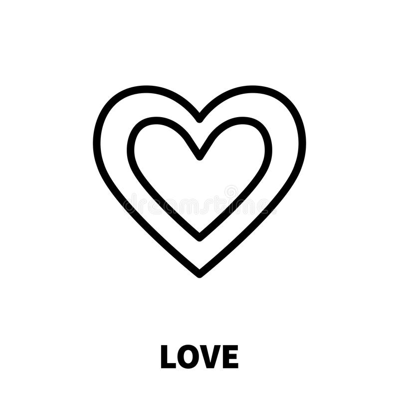 Love icon or logo in modern line style. stock illustration