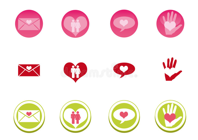 Download Love Icon Set stock vector. Image of green, navigation - 7953563