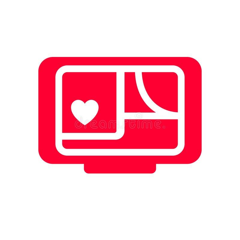 Love icon or Valentine`s day sign designed for celebration royalty free illustration