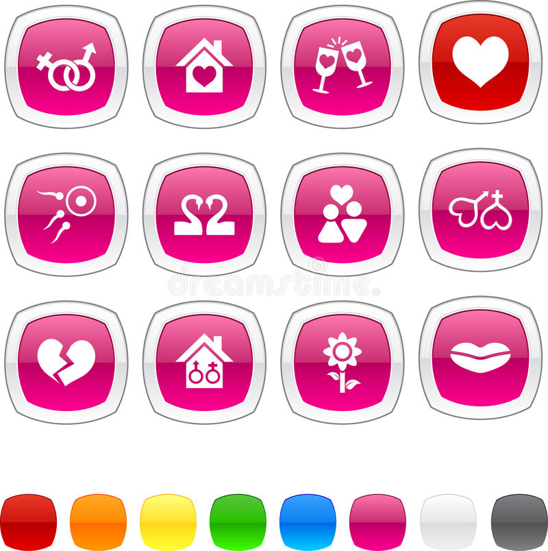 Download Love icons. stock vector. Image of love, flower, reflection - 13014806