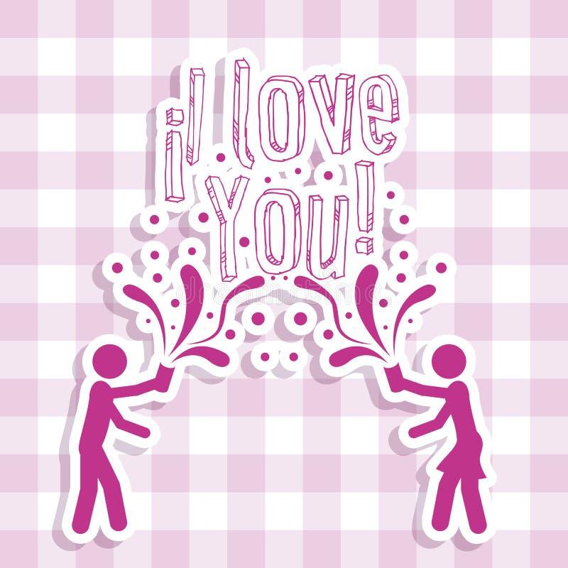 Love Icons. Illustration of couple, illustration of love icons, vector illustration stock illustration