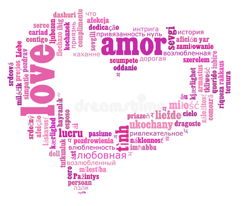 Download Love Info-text Cloud Various Language Stock Illustration - Image: 26873603