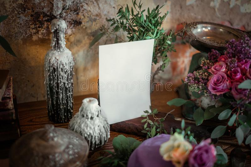 About love the inscription on the envelope, hand calligraphy on paper. stock image
