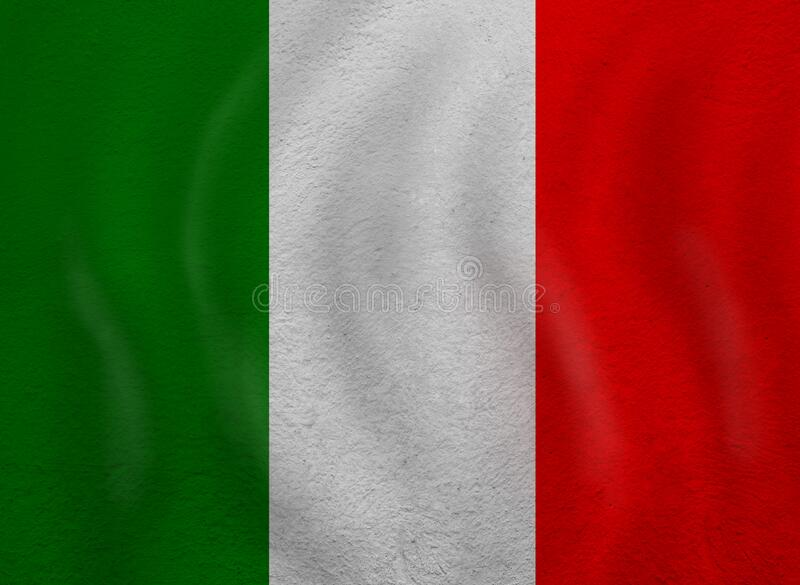 Love Italy concept. Old Italian flag.  stock images