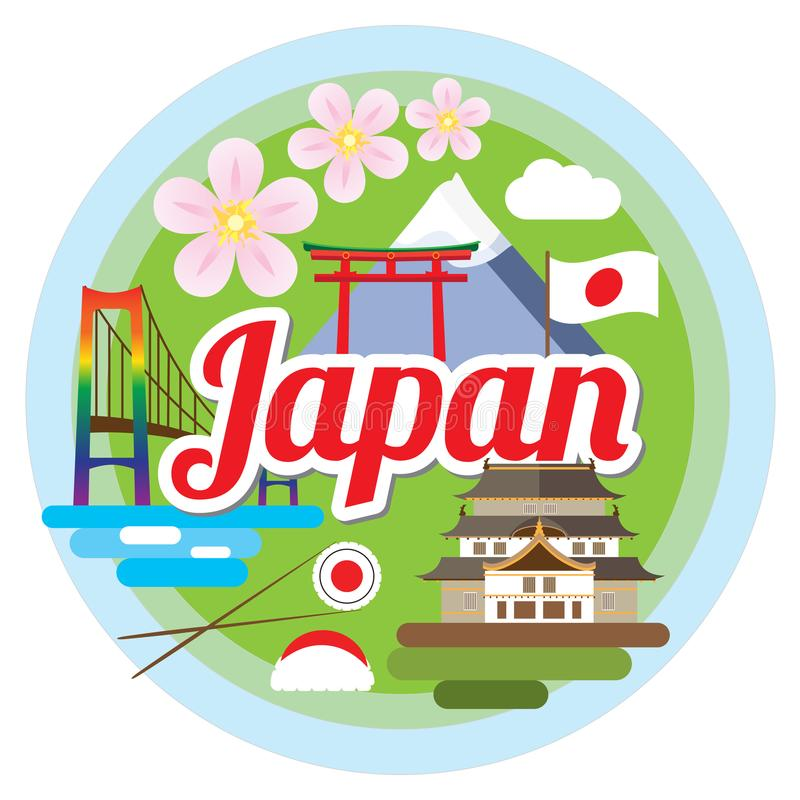Love Japan concept royalty free illustration