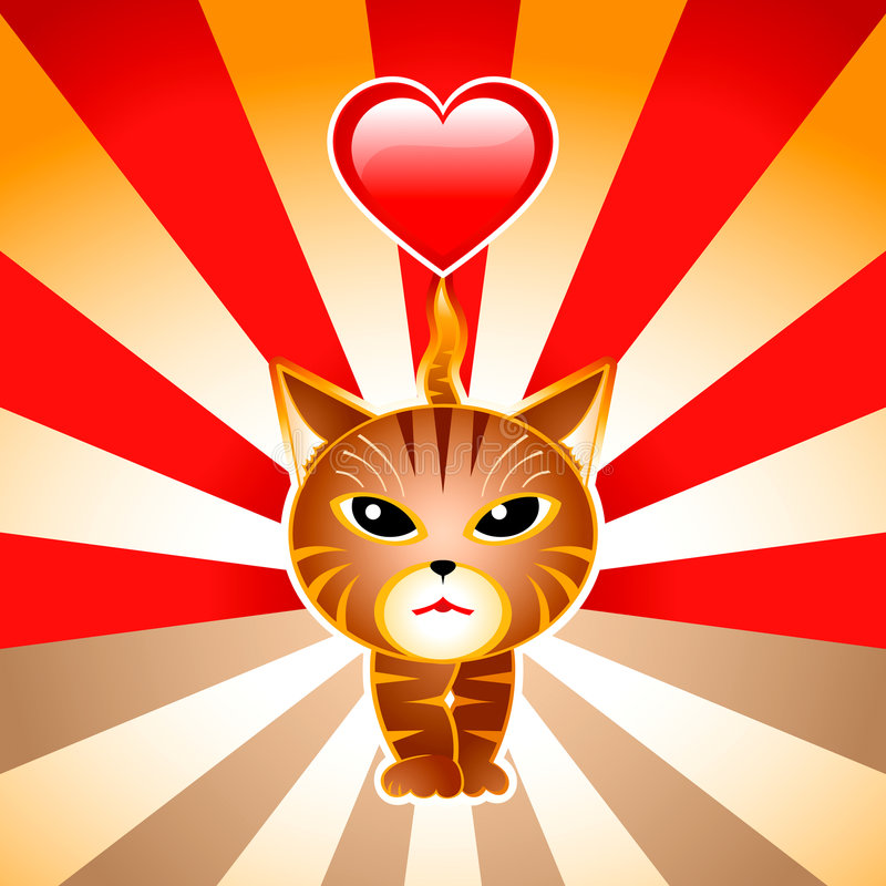 Download Love japanese cat stock vector. Image of heart, lovely - 6918050