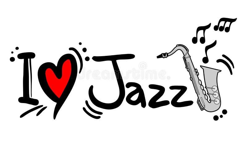 Love jazz. Creative design of love jazz stock illustration