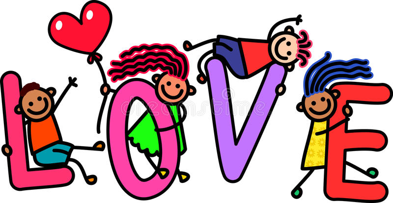Love Kids stock illustration