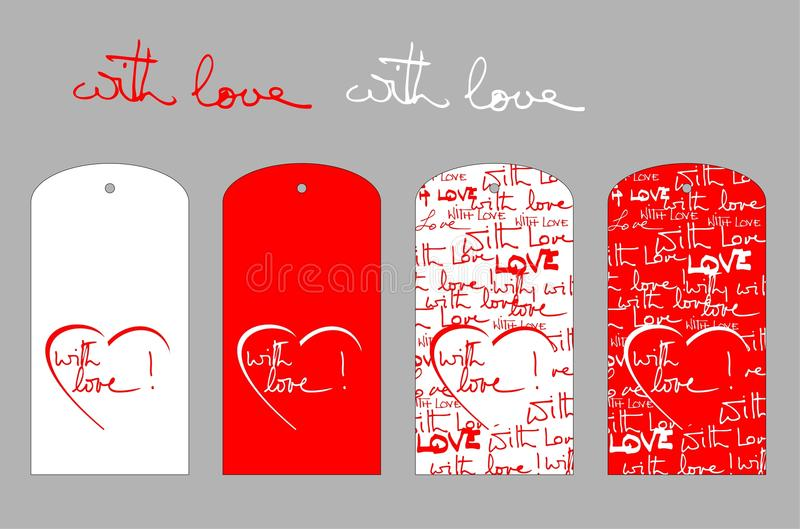 With love labels stock photo