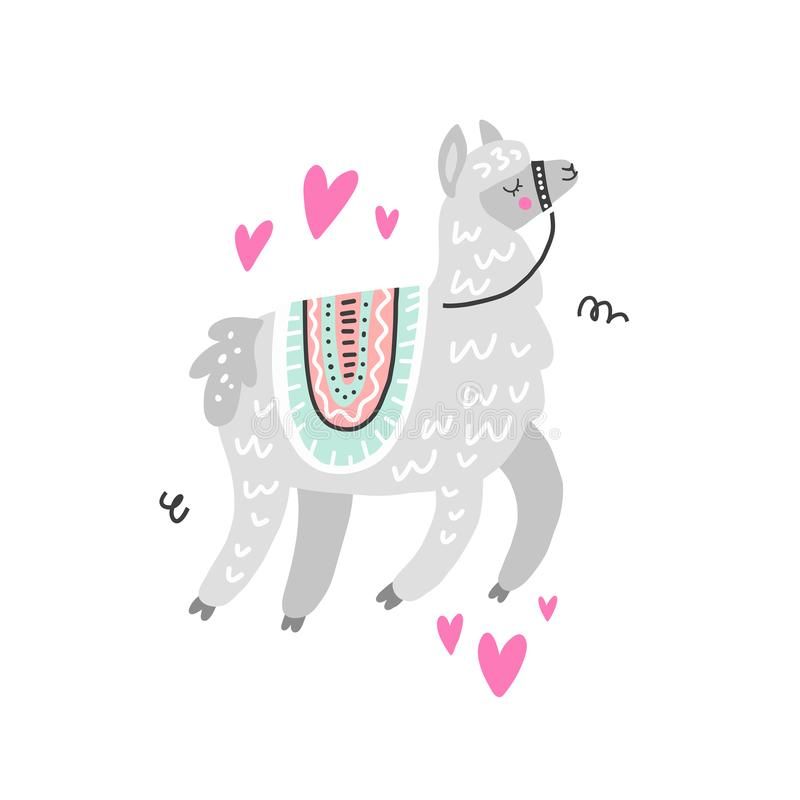 Love Lama Illustration stock illustration