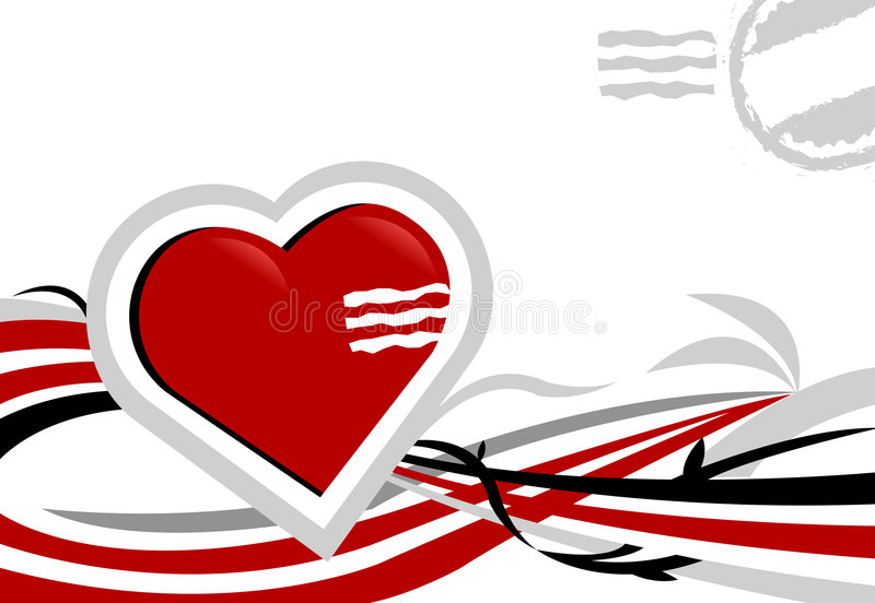 Love letter. Card for love and St Valentine's concepts royalty free illustration