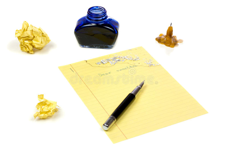 Download Love letter stock photo. Image of yellow, paper, isolated - 19000624