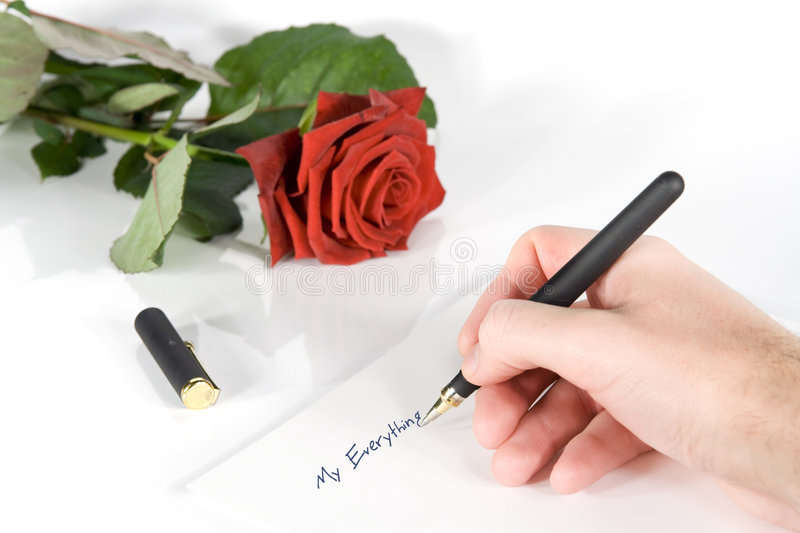 Love letter. Beginning of love letter (My everything royalty free stock image