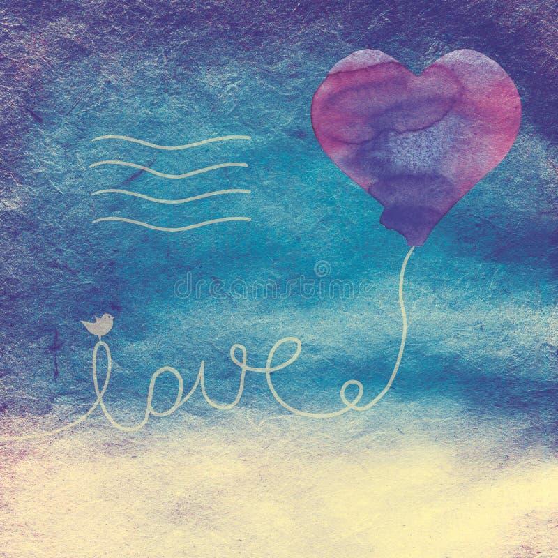 Download Love letter stock illustration. Image of bird, card, heart - 35807153