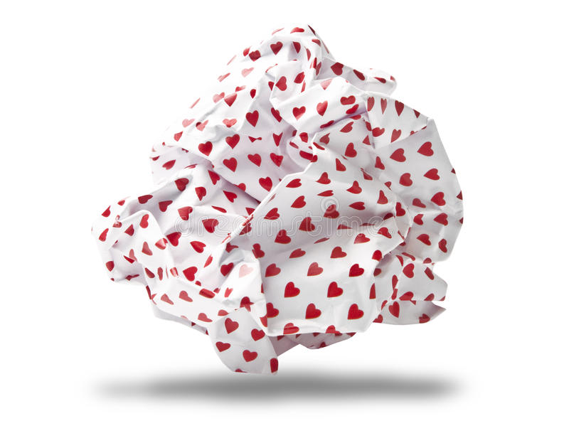 Love Letter Crumpled To Paper Ball Stock Image
