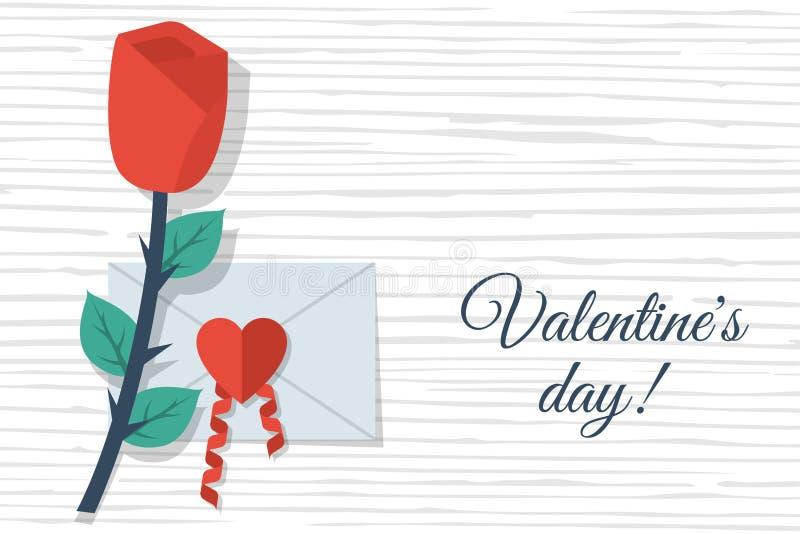 Happy Valentine`s Day card royalty free illustration