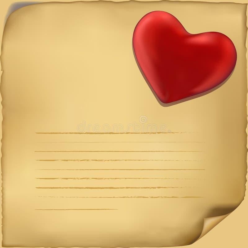 Love letter icon. Illustration on white background stock illustration