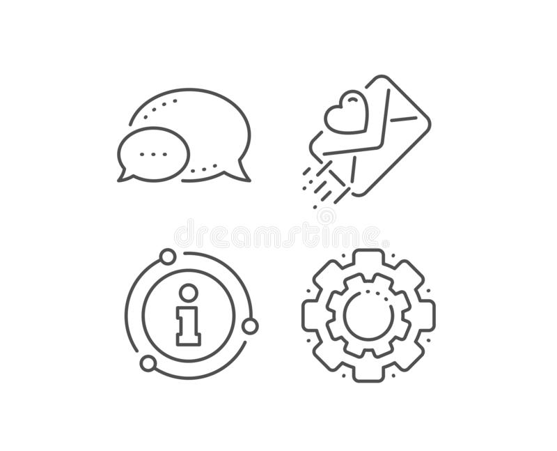 Love letter line icon. Heart mail sign. Vector vector illustration