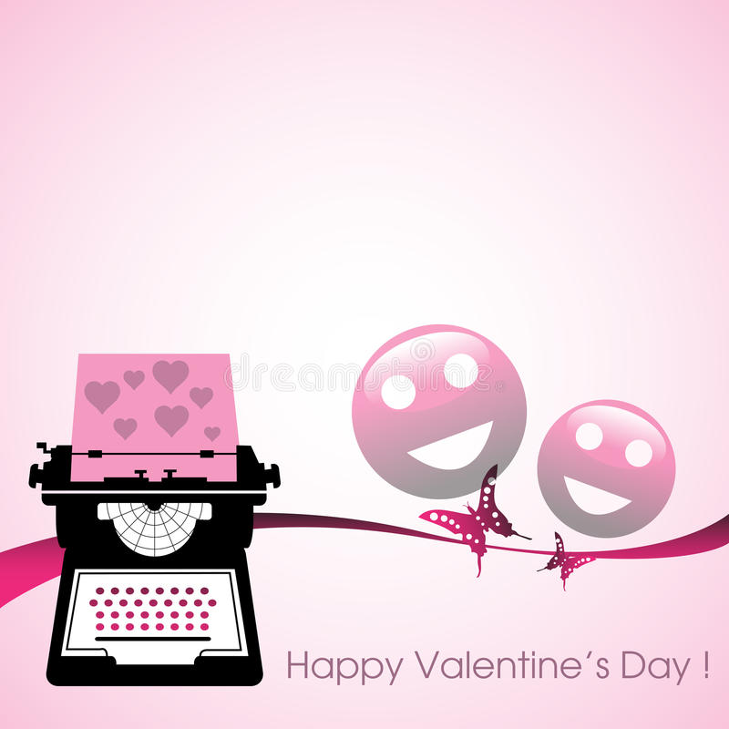 Love letter typing tool royalty free stock images