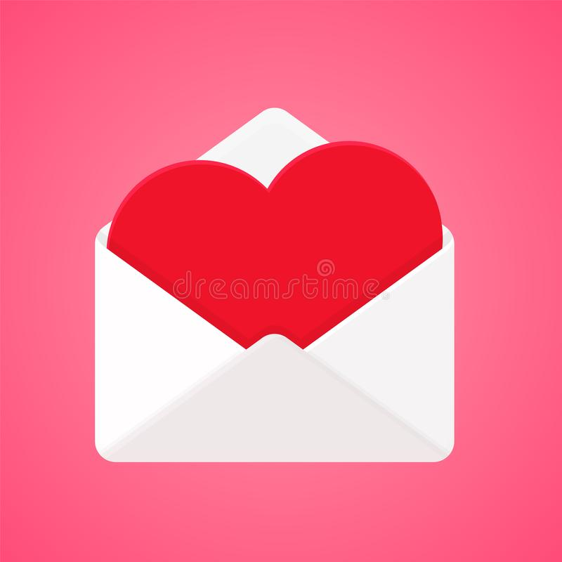 Love Letter Vector. Heart shaped letter For writing in your heart to send to your lover during Valentine's Day royalty free illustration