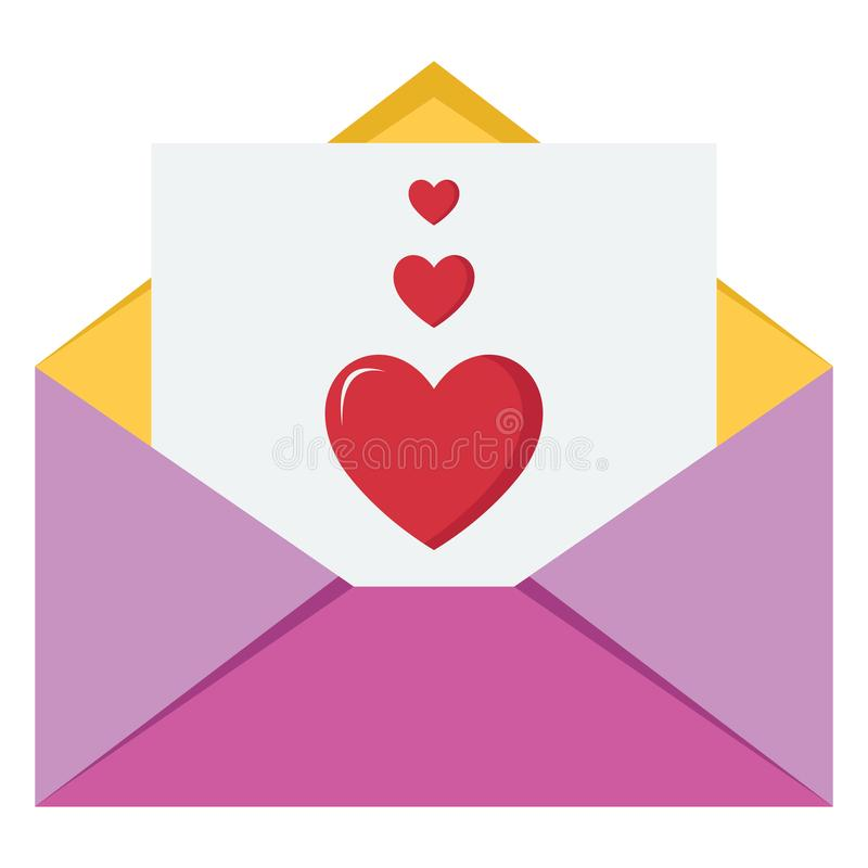 Love Letter Vector icon which can be easily modified or edit stock illustration