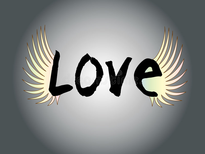 Love letter with wing stock photo