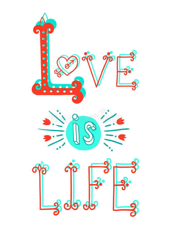 Download Love Lettering. Stock Vector - Image: 59453406