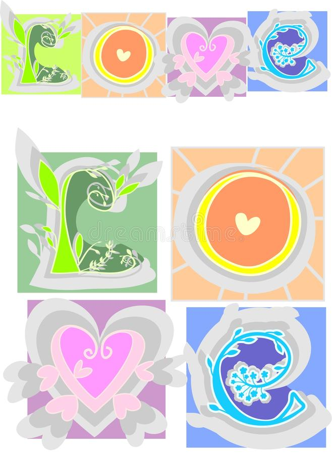 Download Love letters stock vector. Illustration of green, holiday - 14475451