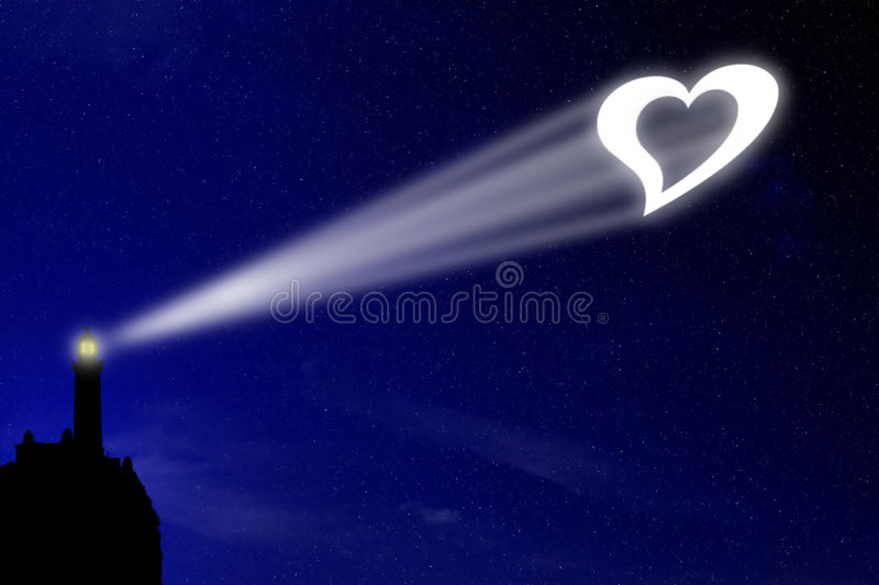 Love lighthouse royalty free stock image