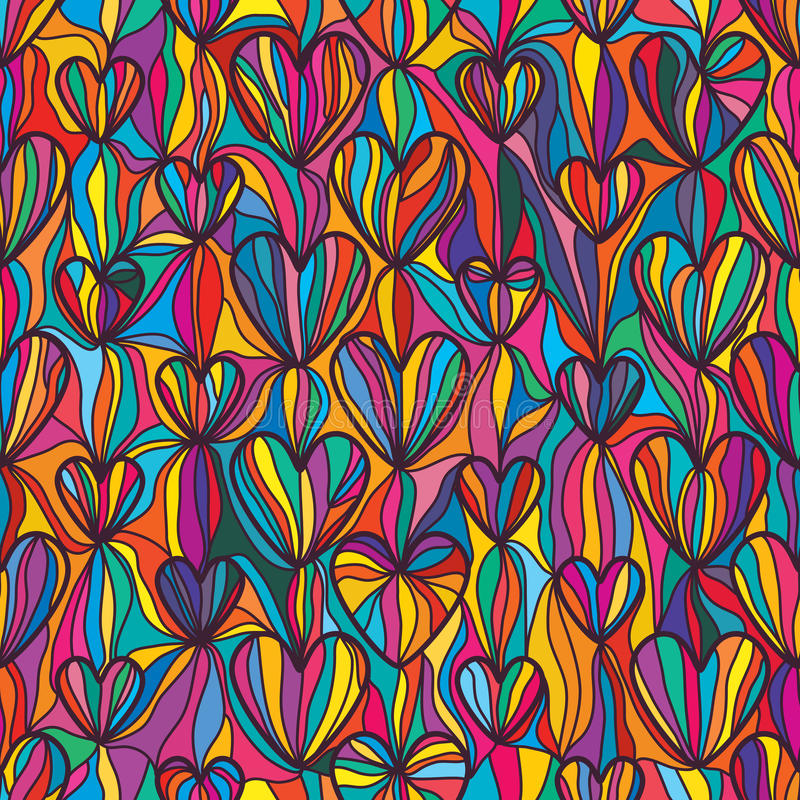 Vertical Line Art : Love line colorful drawing vertical seamless pattern stock
