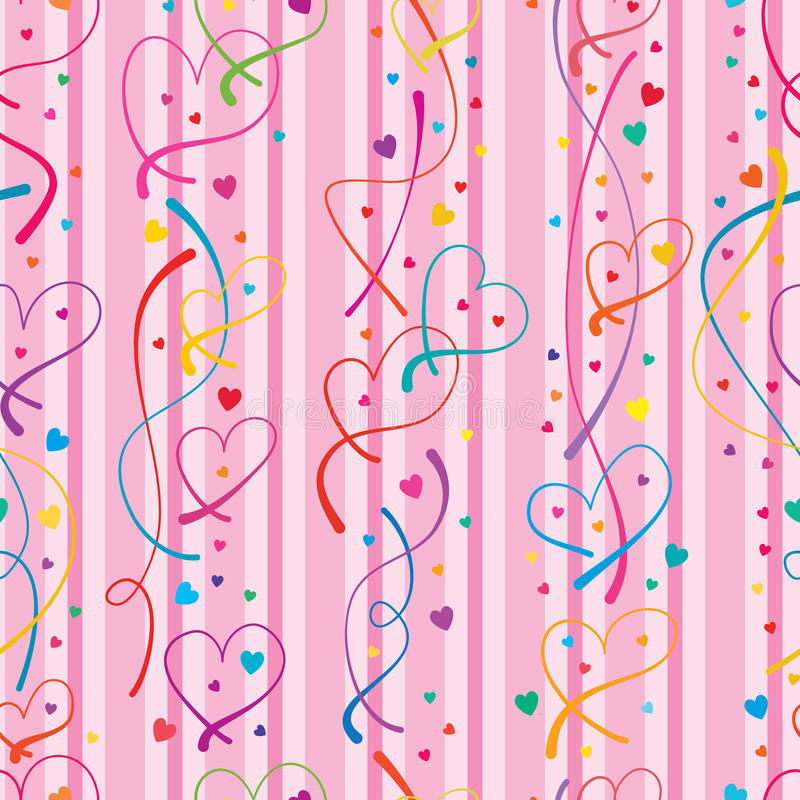Love line vertical seamless pattern royalty free illustration