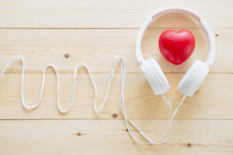 Love listening to music. Concept stock photography
