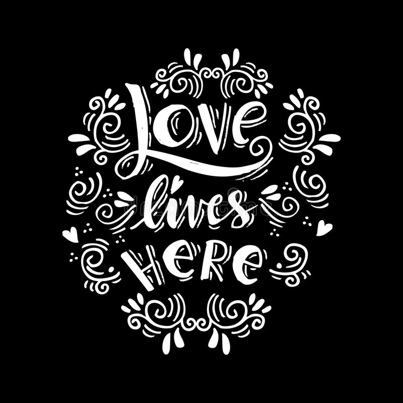 Love lives here royalty free illustration