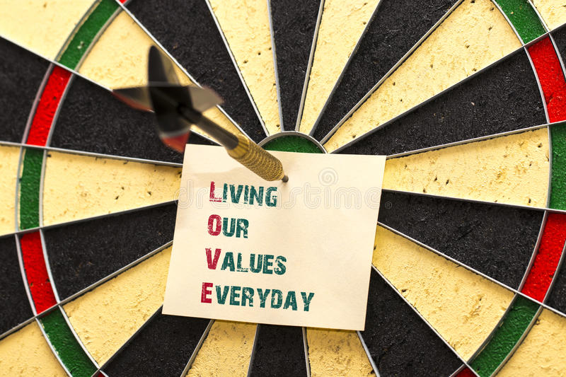 LOVE - Living Our Values Everyday royalty free stock photography