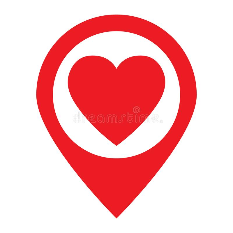 Love location icon concept. Vector illustration stock illustration