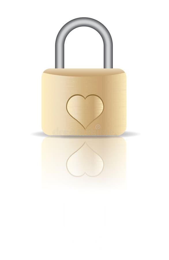 Love Lock stock illustration
