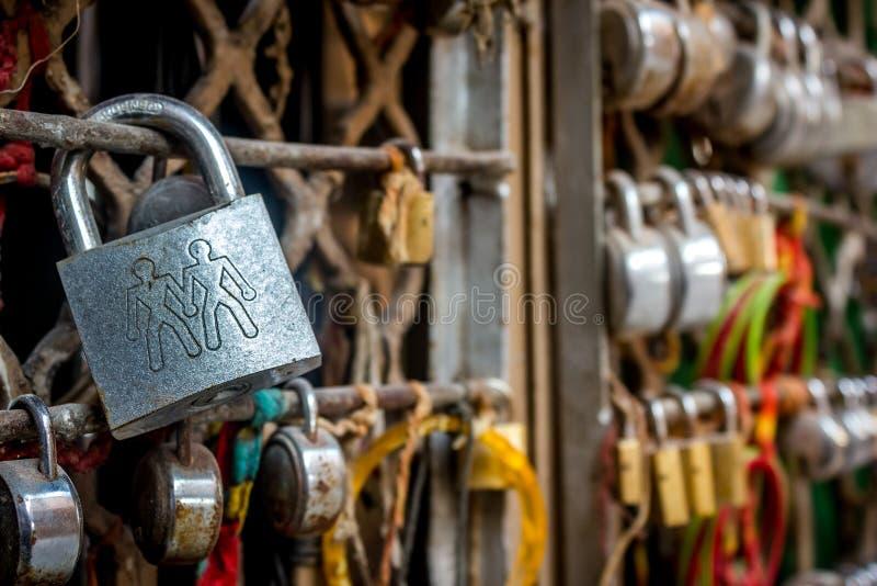 Love lock royalty free stock photo