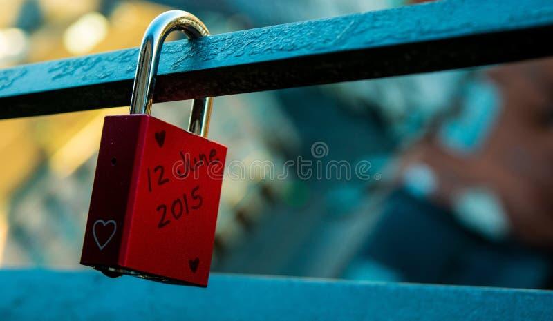 Love lock royalty free stock photography
