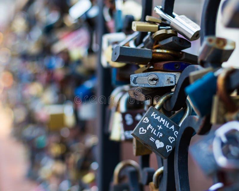 Love locks stock images