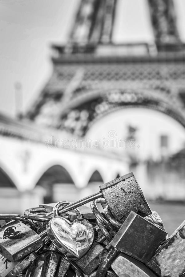 Download Love Locks In Paris Eiffel Tower The Background