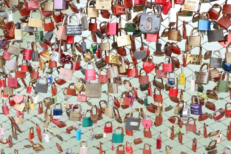 Love Locks- Salzburg royalty free stock photos