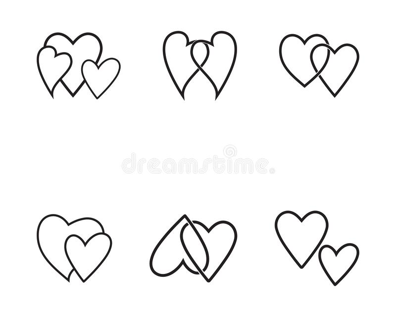 Love Logo and symbols Vector Template. Icons app, adoption, arrow, art, birth, birthday, cardiac, care, celebrate, chalk, clip, collection, congratulation vector illustration