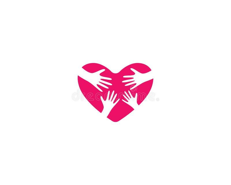 Love logo template royalty free illustration