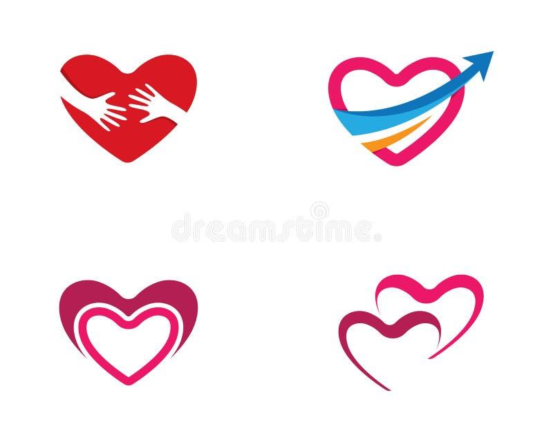 Love logo template vector illustration