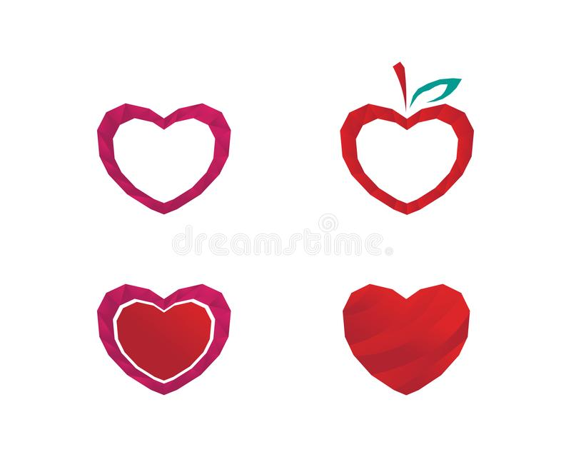 Love Logo and valentine day symbols Vector Template icons app royalty free illustration