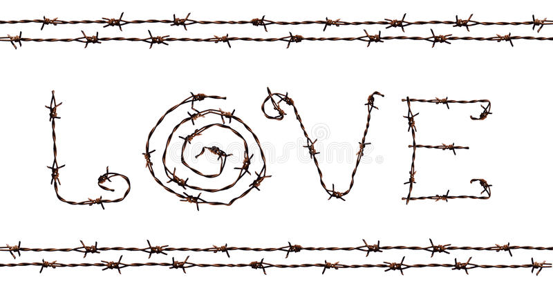 LOVE made from Barb. A photo of LOVE made from Barb stock illustration