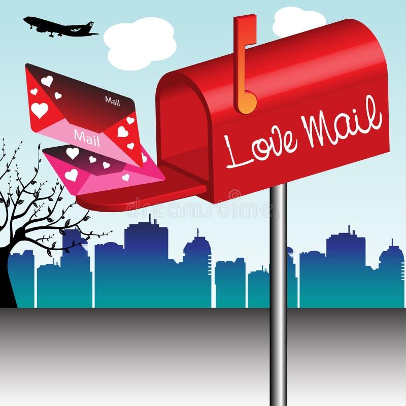 Love mail stock photo