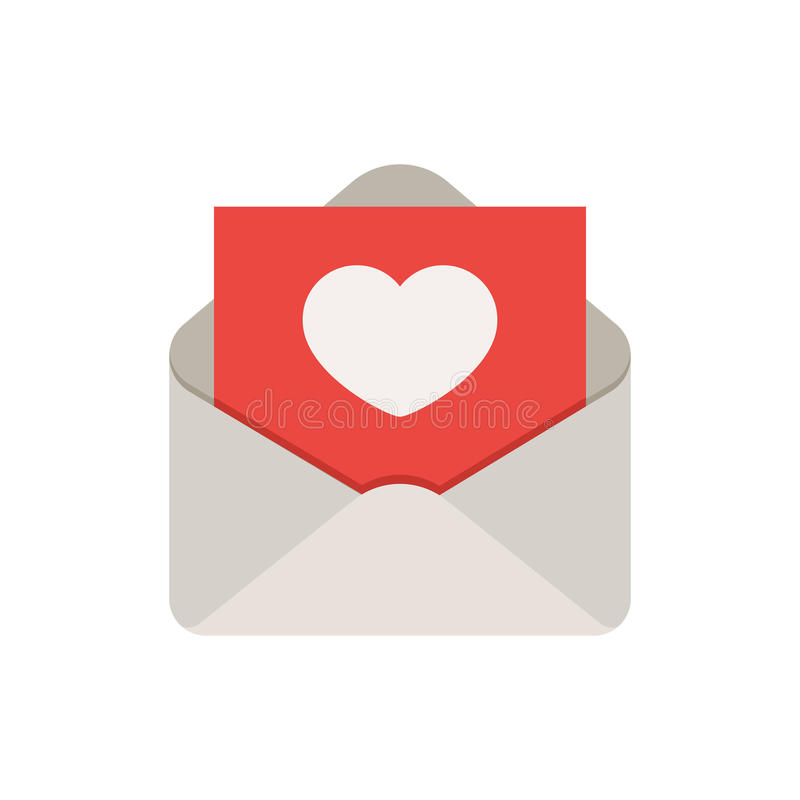 Love mail icon vector illustration
